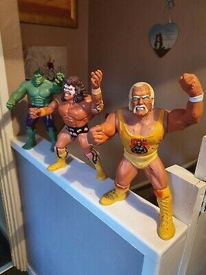 "Vintage 90s Wwf Hulk Hogan And Ultimate Warrior Hasbro 12"" Doll figures"