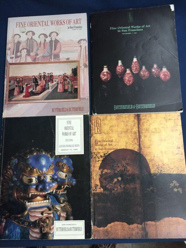 4 Butterfield & Butterfield Auction Catalogs Oriental Works of Art 1990 & 1991