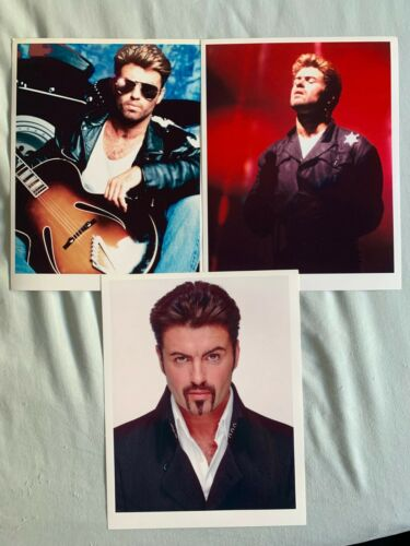 George Michael Lot of 8x11 photo Prints 3, Faith, Live, father figure, Freedom