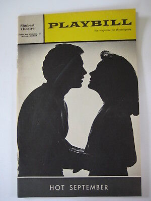 1965 Hot September PLAYBILL Lovelady Powell Eddie Bracken Lee Lawson Alice Evans