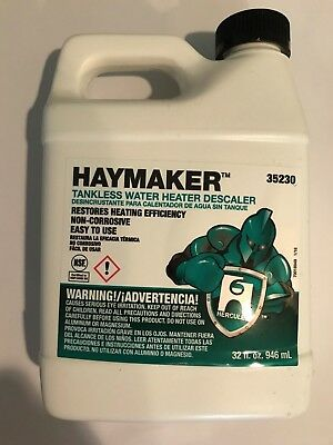 Haymaker Tankless Water Heater Descaler Dissolves Scale   Lime One Quart