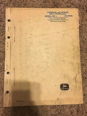 John Deere Combine 45 Series Parts Catalog