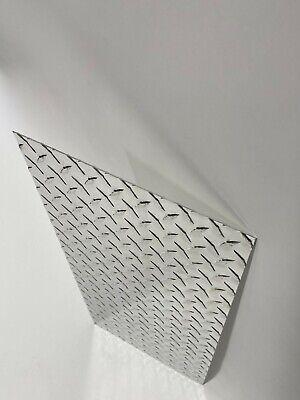 Diamond Plate Tread Brite Aluminum 12 X 24 3003 .063 14 Gauge Chrome