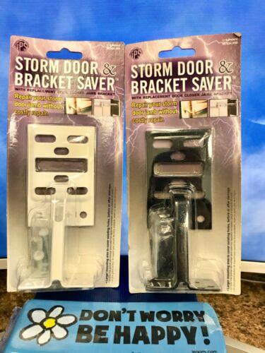 IPS Storm Door & Bracket Saver w/ Replacement Door Closer/Jamb Bracket~Blk or Wh
