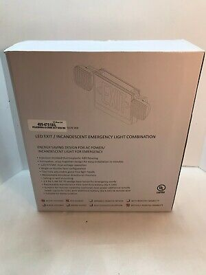 Led Exitincandescent Emergency Light Combination 499-4751sil