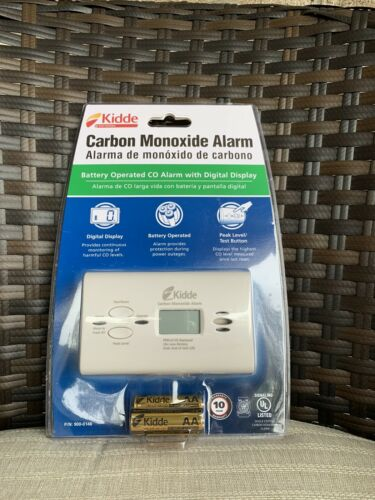 Kidde Carbon Monoxide Alarm with Digital Display Battery Ope