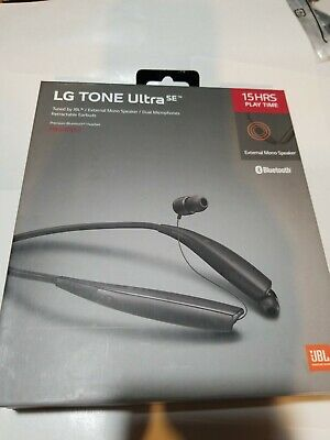 LG Tone Ultra SE HBS-835S Wireless Stereo Bluetooth Headset Black  OEM open box