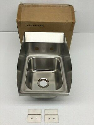 Stainless Steel Hand Sink With Side Splash - Nsf - Commercial Equipment 10 X 14