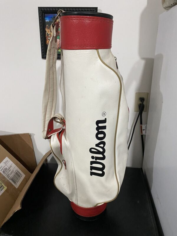 Vintage Wilson Staff/Tour Professional Sunday Classic Golf Bag Red White
