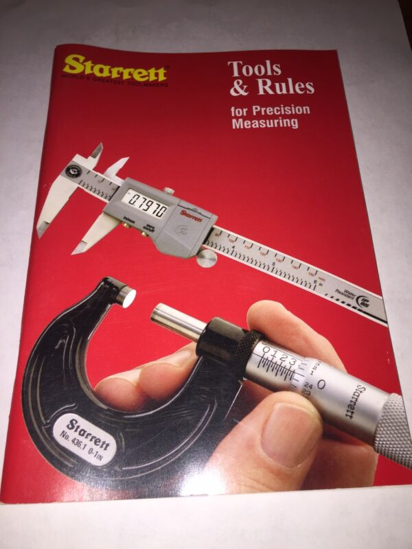 Starrett Tools And Rules Book