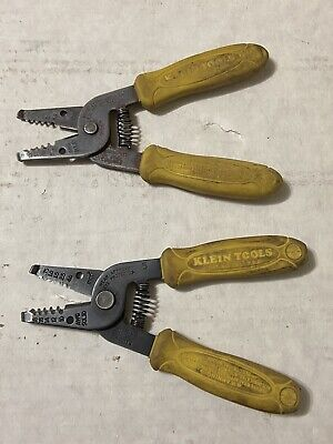 Vintage Klein Tools 11045 Wire Strippers Cutters 10-18 Awg Usa Yellow Handles 5