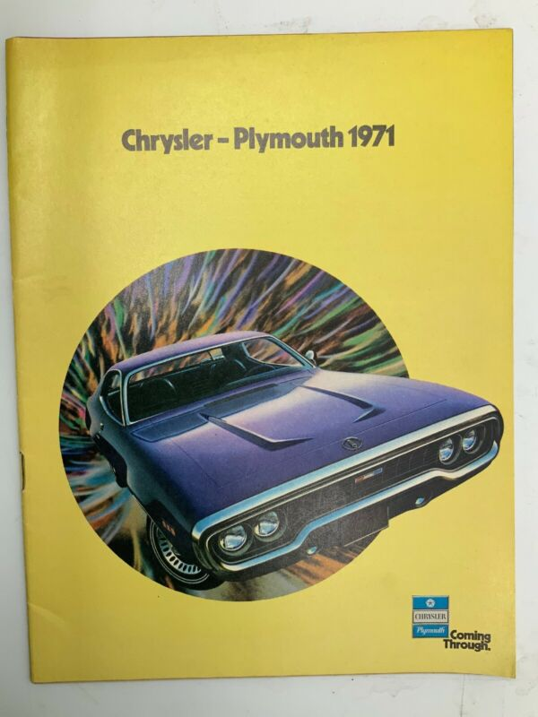 1971 Chrysler Plymouth Sales Brochure
