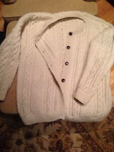 Irish cable knit wool sweater Peterborough Peterborough Area image 1