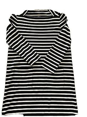 Kate Spade Black And White Striped Long Sleeve Dress Size Large