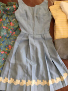 Vintage fabrics and two early 60s dresses