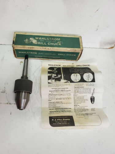Wahlstrom KEYLESS Automatic MT 2 Morse Taper Drill Press Chuck 94-11