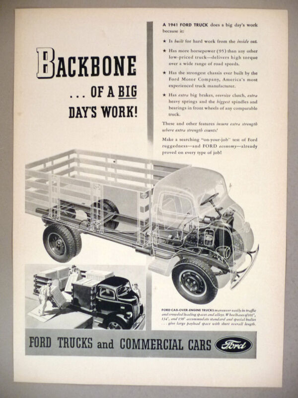 Ford Truck PRINT AD - 1941