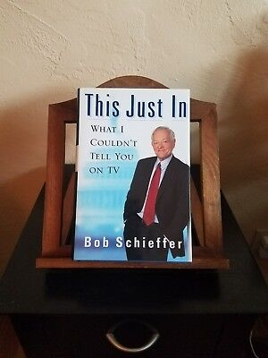 ''This Just In'' Bob Schieffer 2004, SIGNED, CBS 60 Minutes, Face the Nation
