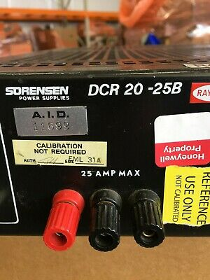 Sorensen Dcr 20-25b Power Supply