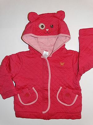 NWT GYMBOREE MIX N MATCH KITTY HOODIE JACKET GIRLS 3T 3 CAT FALL LINE QUILTED ()