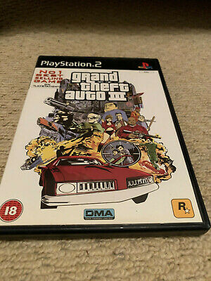 grand theft auto 3 ps2 with manual and tested for sale  Shipping to Nigeria