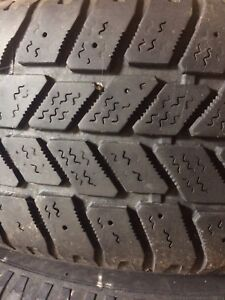 4 Used 195/65r15 Winter Tires on Rims $300