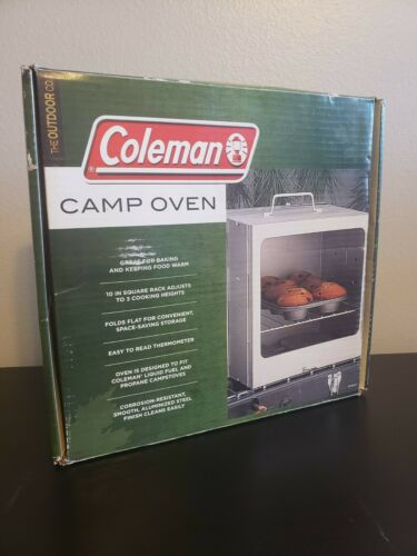 Portable Camp Oven Easy Clean Aluminum Steel Construction Easy Read Thermometer
