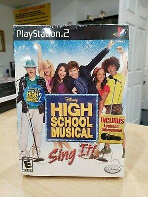 High School Musical: Sing It Bundle (Sony PlayStation 2, 2007) Brand New Sealed