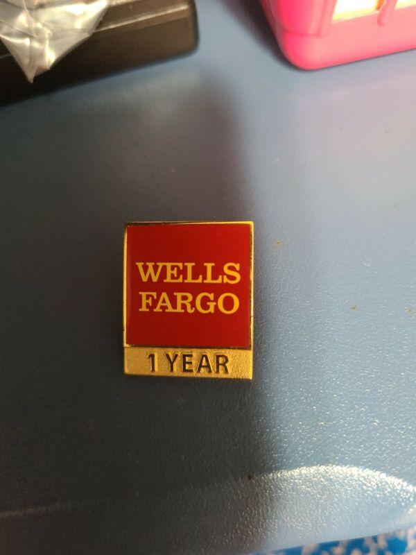 Wells Fargo 1 Year Service Pin