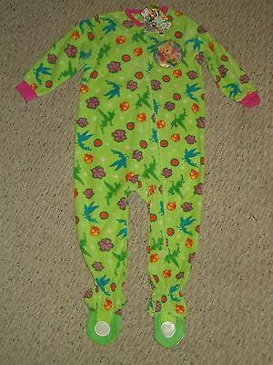 NWT Disney Fairies Tinkerbell Footed Blanket Sleeper Pajamas Size 2T or - Disney Fairies Pajamas