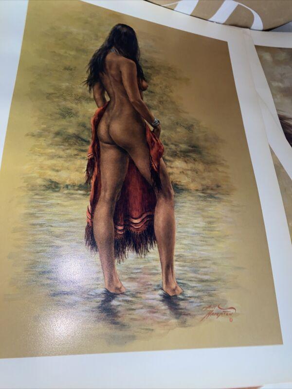 Bill Hampton Native American Print  hard to find