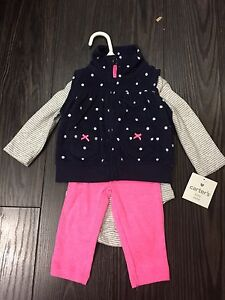 Baby girl clothes 3-6 Carter's, Kushies