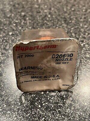 1 New Hypertherm 100a Ht2000 Plasma Cutting Nozzle 020690