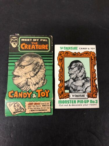 CREATURE FROM THE BLACK LAGOON PHOENIX CANDY BOX FRONT AND BACK PANELS 60s