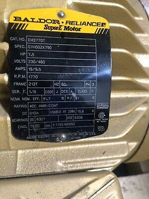 Baldor Em3770t 7.5 Hp 1770 Rpm 60hz 213t Electric Motor Never Used