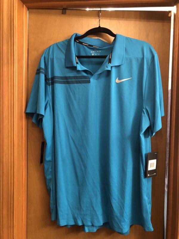 Nike Roger Federer Polo 888202-430 Halle 2018 Size XXL