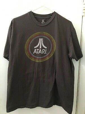 ATARI T- Shirt - size LARGE - By  Ripple Junction in Gray