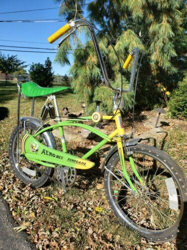 AMF ROADMASTER Aero bee 3 speed GREEN muscle bike Fast one GLITTER yellow RARE   (Used - 1599.99 USD)