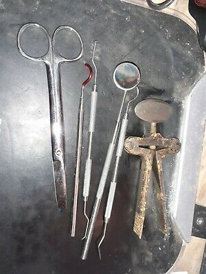 mixed bundle of dentist medical tools as pictured vintage 6 items