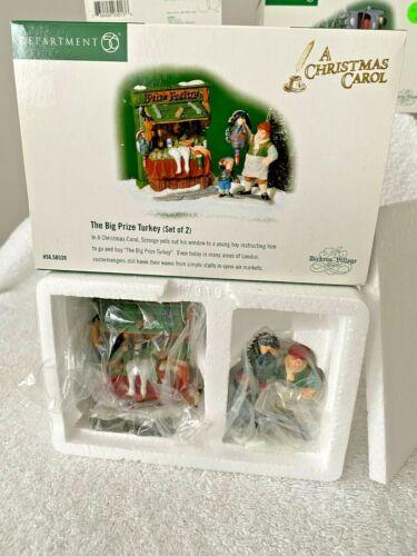 Dept 56 Dickens Village A Christmas Carol The Big Prize Turkey Set of 2 Figures