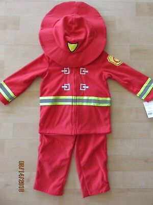 Carters Baby Fireman Halloween Costume Infant 18 months New 2 Piece Rescue