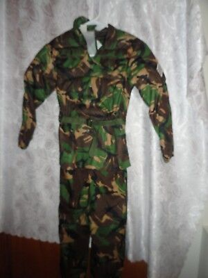 CAMOUFLAGE ARMY GUY HALLOWEEN COSTUME/DRESS UP WITH MATCHING HELMET-SIZE 8 - Army Guy Halloween Costumes