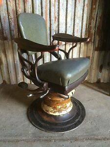 Old Vintage Old Rare Antique Dentists Chair Industrial Chic Rough Luxe