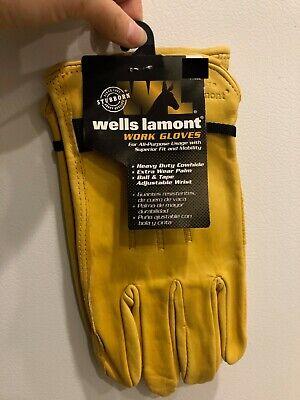 Wells Lamont Saddletan Mens  Leather Driver Gloves