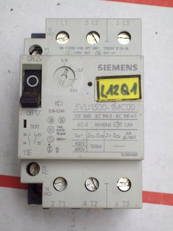 SIEMENS MOTOR STARTER PROTECTOR BREAKER , 3VU1300-1MC00