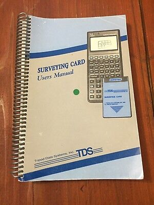 Tds Surveying Card Users Manual Surveyor