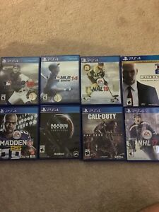 Selling 8 PS4 games