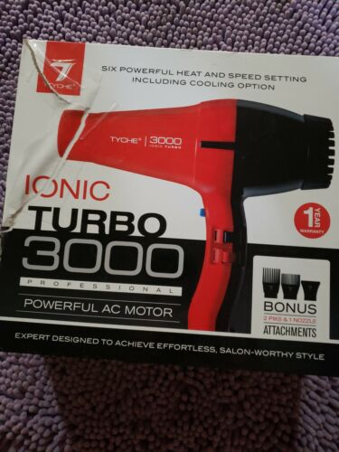 Tyche Turbo Jet Ionic 3000 Professional Dryer 1 Year Warranty Included  - $58.99
