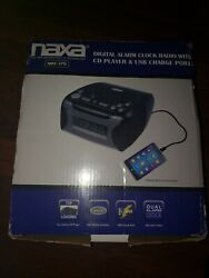 Naxa Digital Alarm Clock with Digital Tuning AM/FM Radio, CD Player, USB Charger