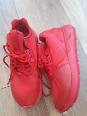 Ladies/Boys ADIDAS TUBULAR Red Running Trainers Size 5 Immaclate